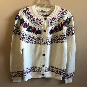 Northern Reflections Knit Crew Neck Cardigan Top
